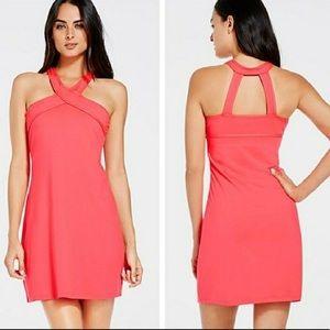 Fabletics Coral Chicago Halter Athletic Dress Lg